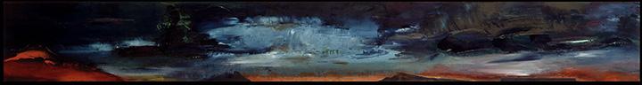 Rainstorm Passing Black Mesa Oil on museum board