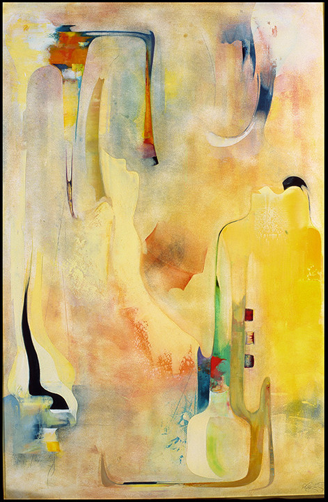 The Genie Is Out of the Bottle Oil on museum board 40x60 inches