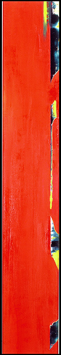 Untitled in Red Oil on museum board